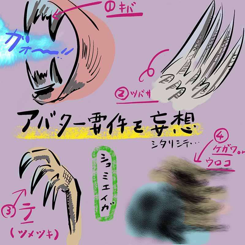 牙と翼と爪と毛皮か鱗がアバター用件かな