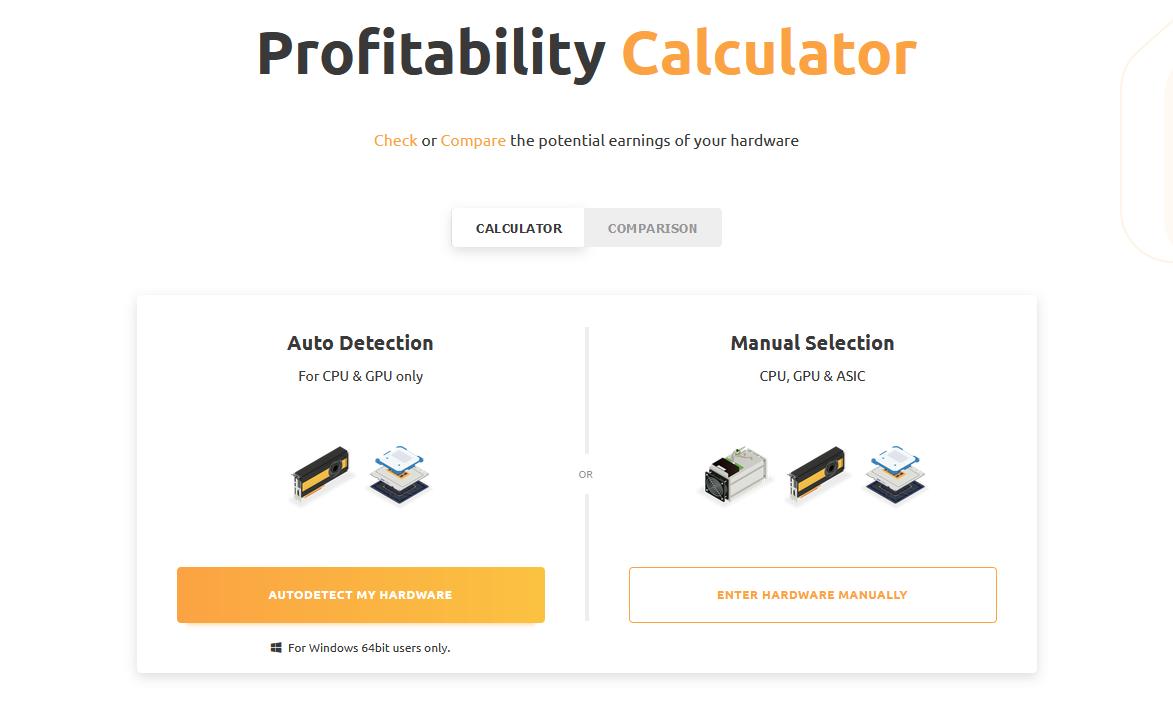 https://www.nicehash.com/profitability-calculator