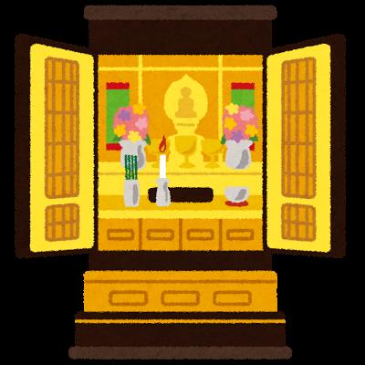 現代仏壇のイラスト
