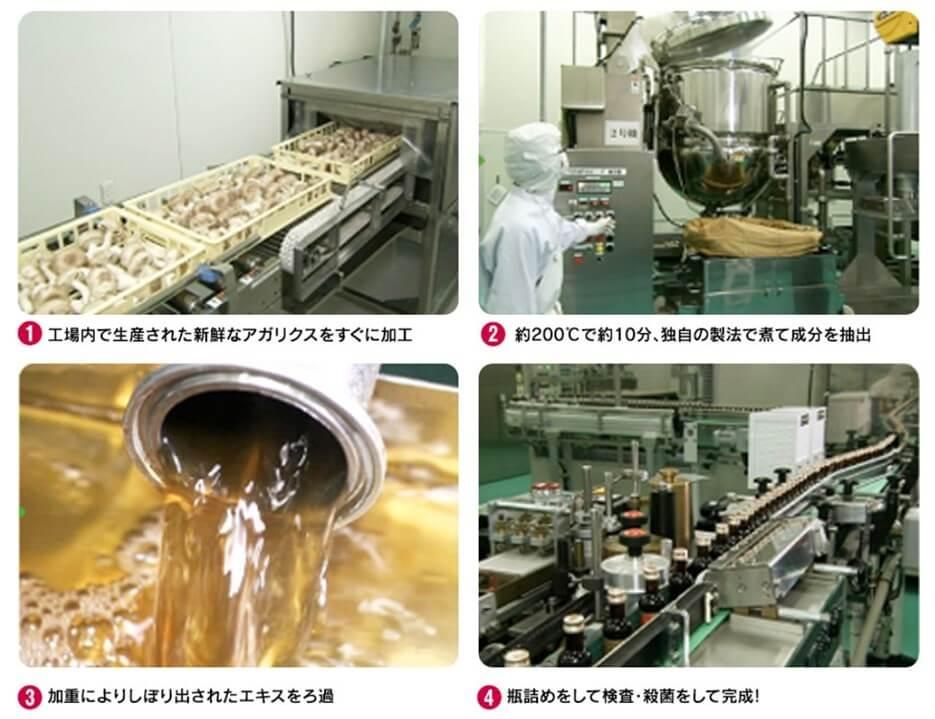アガリクスの生産過程を写真で説明