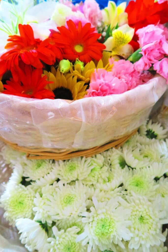 小さなお葬式の花の写真