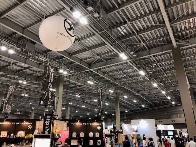 エンディング産業展2018の会場内全体の様子の写真