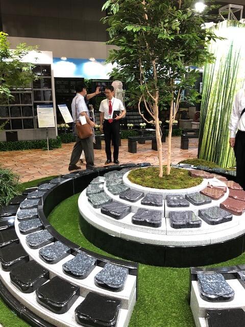 エンディング産業展展示の樹木葬の写真
