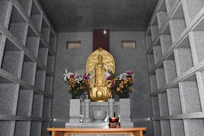 納骨堂の内部の写真