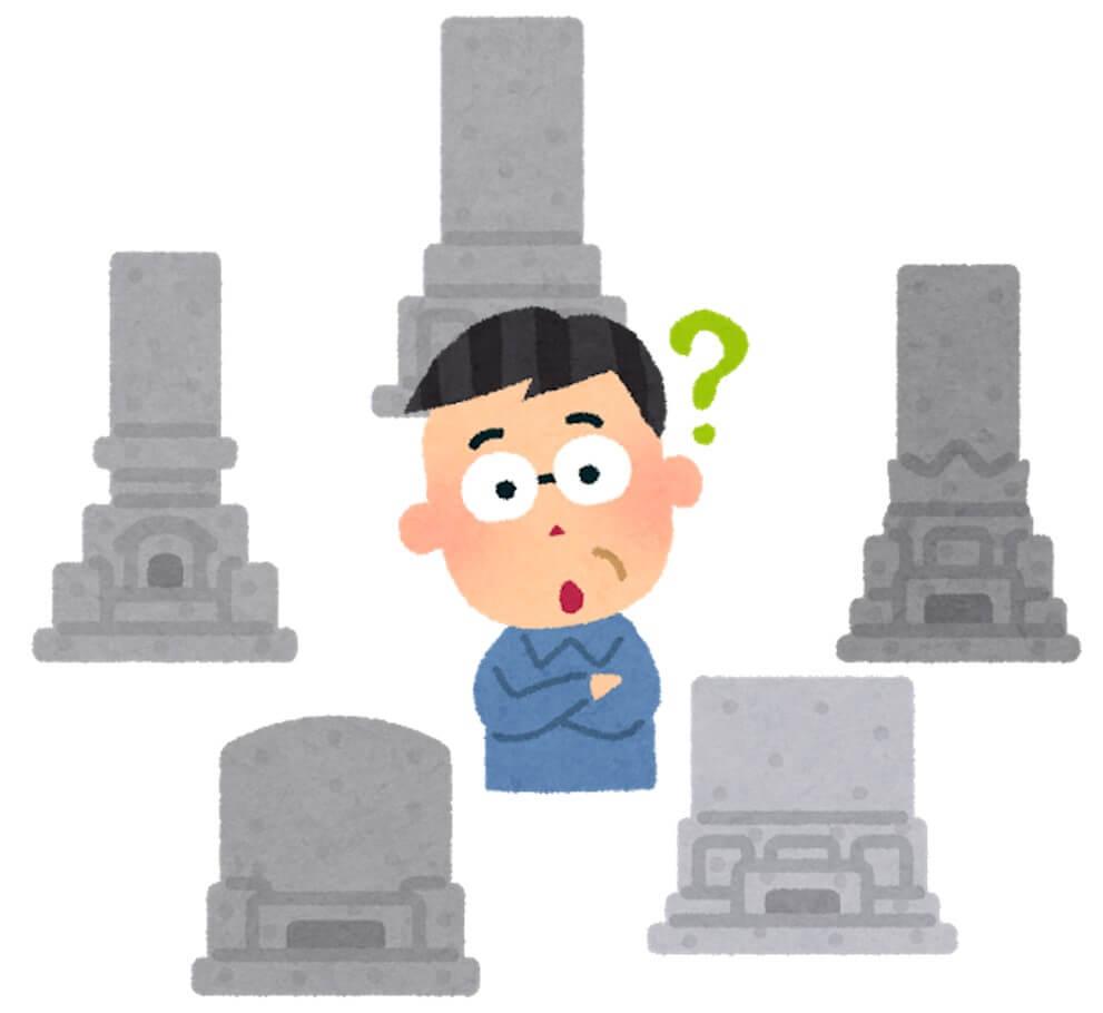 墓地を探している人のイラスト画像