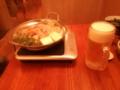 晩飯は寄せ鍋うどん    ビールはキリンだし文句なし!!