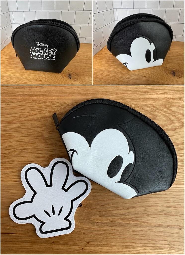 インレッド 付録 ミッキーマウス フェイスポーチと手の形のポーチ2個セット