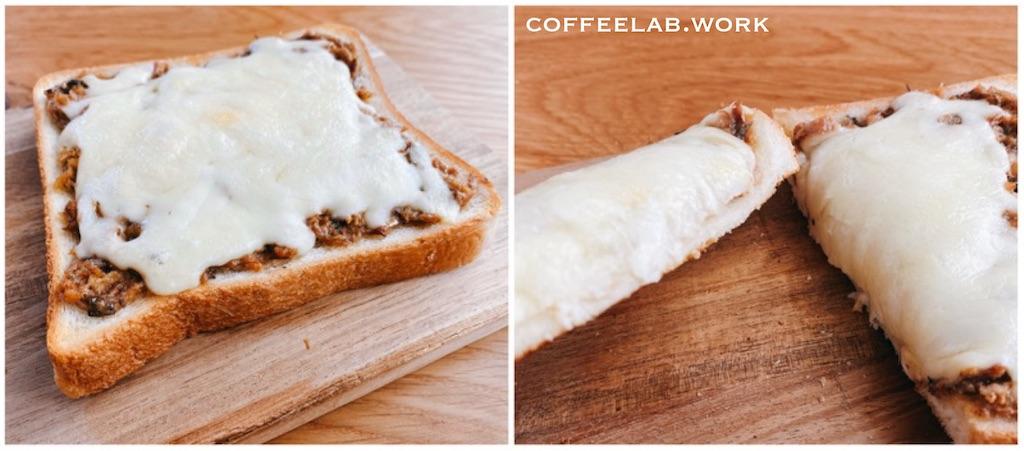 滝沢カレンのサバ味噌チーズトースト