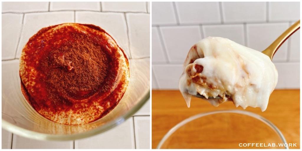 業務スーパーの人気商品 リッチチーズケーキ アレンジレシピ ティラミス風