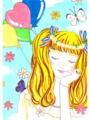 風船と少女