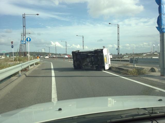 交通事故激写!