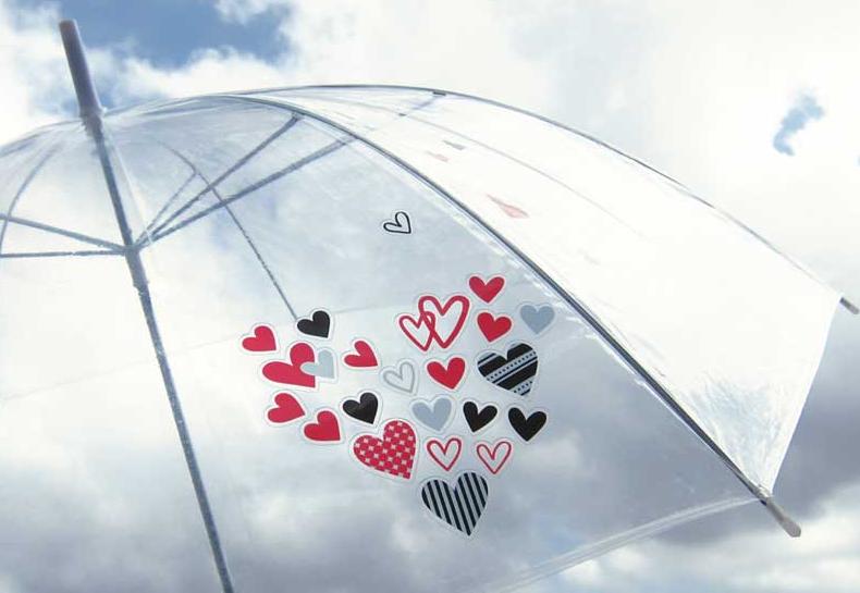 雨の日が楽しくなる「カサデコシール」がヒットの兆し