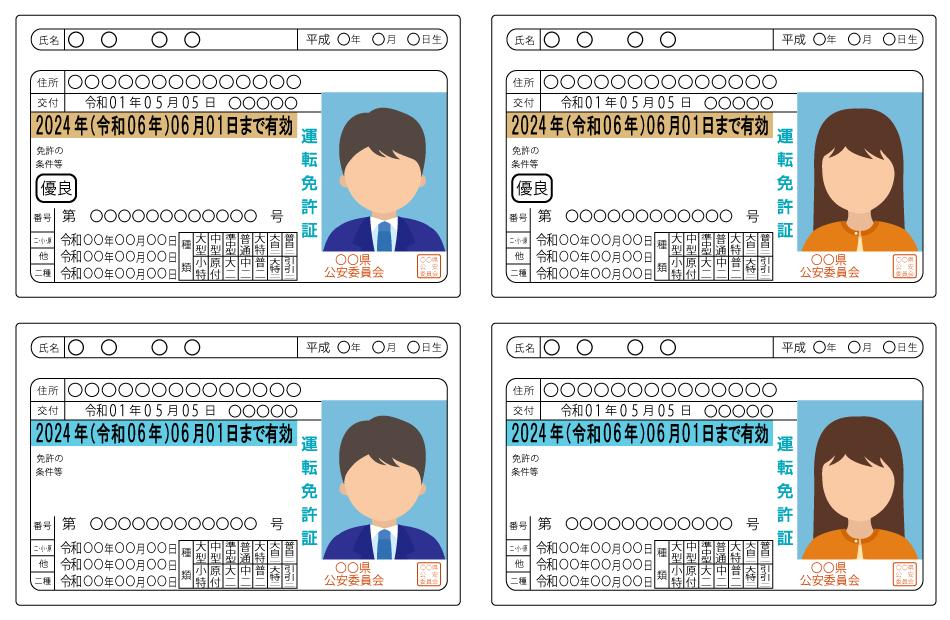 様々な運転免許