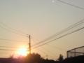 綺麗な夕焼けだったのに今は雷ゴーロゴロ