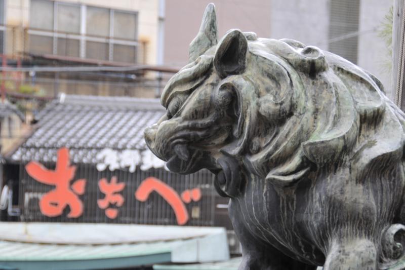 京都新聞写真コンテスト 八坂神社の狛犬・「さっさと!」