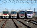 新京成電鉄 車両ラインナップ(第19回電車基地見学・展示会にて)