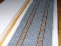 コピー用紙の帯を、トラフの両脇に。