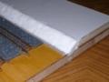 紙粘土で斜面を制作