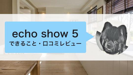 Echo Show5とは(できることや口コミレビュー)