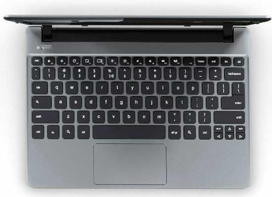 Chromebookのキーボード
