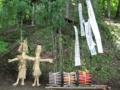 虫送りの稲ワラ人形