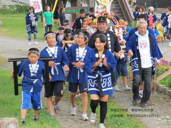 「巻堀神社」例大祭「子供神輿」