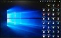 画面が逆さまのデスクトップ