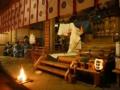 愛宕神社「朝御饌祭の人長乃舞」
