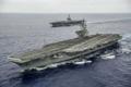 空母「ロナルド・レーガン」を中心にしたアメリカ海軍第7艦隊