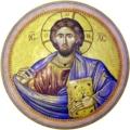 聖墳墓教会のドーム内「全能者ハリストス」