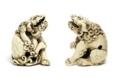 「象牙の獅子の根付」