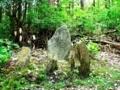 神社脇「乳守宮」の石碑