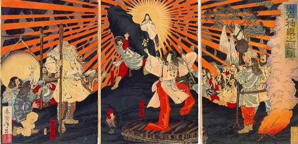 春斎年昌「岩戸神楽之起顕」明治20年(1887年)