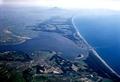 青森県津軽半島北西にある汽水湖「十三湖」