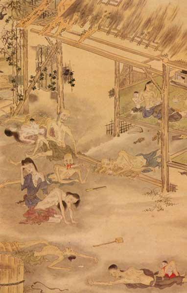 天明飢饉之図(会津美里町教育委員会蔵)