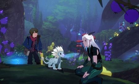 旅を楽しむカラムとレイラとドラゴン王子