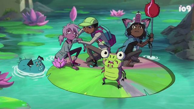 右の豚がマンドゥ、人がキポ、ベンソン、ウフル、手前の虫がデイブ