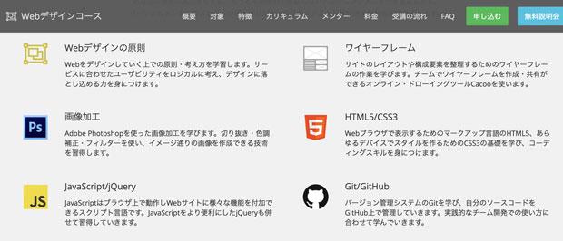 テックアカデミーWebデザインコース
