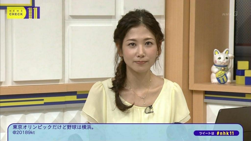 ゆる三つ編みの桑子真帆アナ