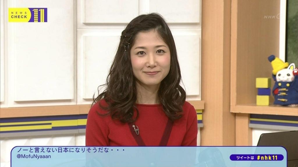 ヘアアクセアレンジの桑子真帆アナ