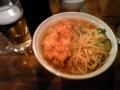 あんかけ拉麺+プチ唐揚げ+ビール@旨辛ラーメン 表裏(水道橋)