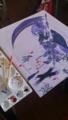 [創作][オリジナル] 夢食いお姉さん、夢月さん。学校の課題でした、日本画難しい。