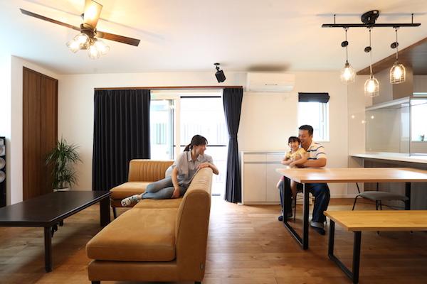 千葉県の注文住宅実例:リビング