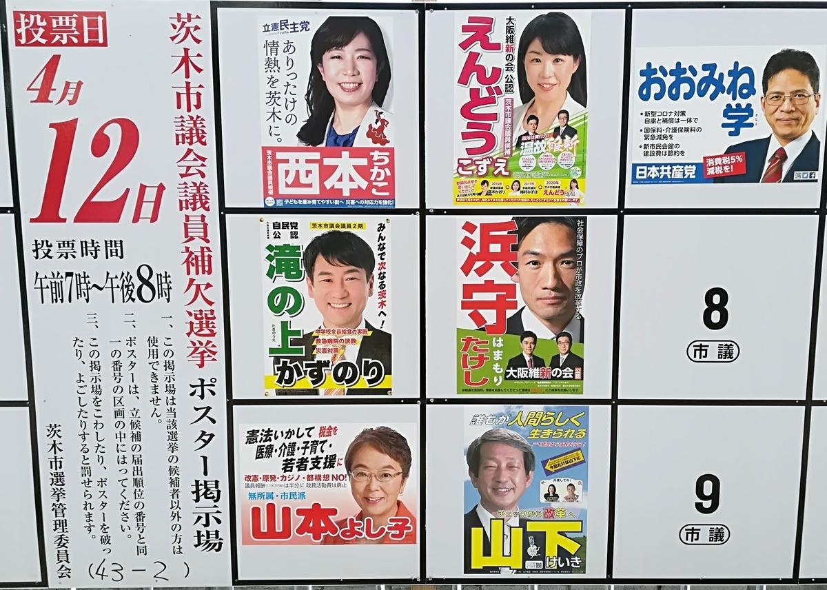茨木 市長 選挙