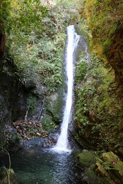 乙女滝は高さ14mから降り注ぐ