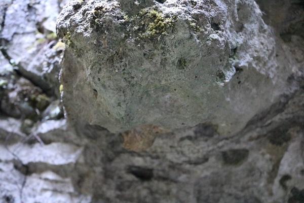 乳岩神社の歴史ある岩山