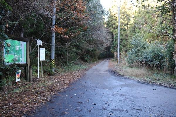 平成自然公園への道
