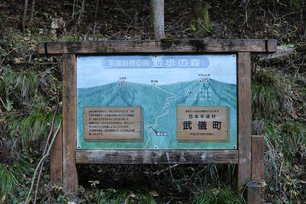 平成自然公園遊歩の森案内板