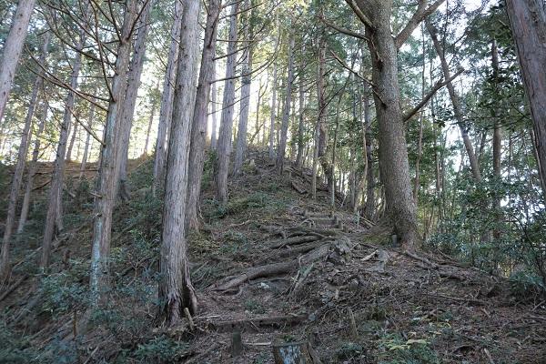 平洞頂上への最後の坂
