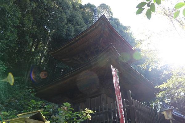 高澤観音境内の多宝塔